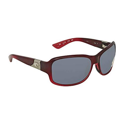 (Costa del Mar Inlet Sunglasses Pomegranate Fade/Gray 580Plastic)