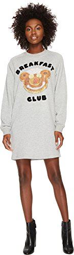 Jeremy Scott Women's Breakfast Club Sweatshirt Dress Grey - Womens Jeremy Scott