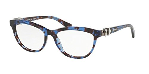 Coach HC 6087 5392 Blue Tortoise Plastic Cat-Eye Eyeglasses 53mm