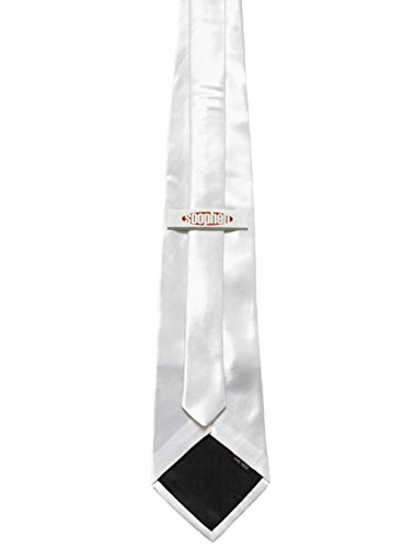 Soophen NEW Mens Necktie SOLID Satin Neck Tie White - http://coolthings.us