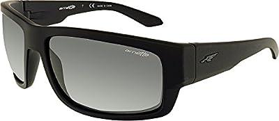 Arnette Men's Grifter Rectangular Sunglasses, Fuzzy Black, 62 mm