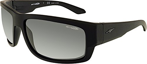 Arnette Men's Grifter Rectangular Sunglasses, Fuzzy Black, 62 - Sunglasses Arnette