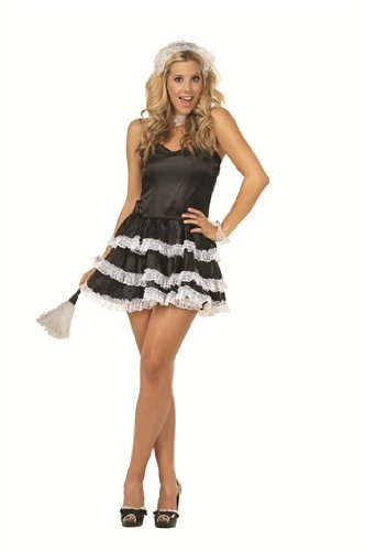 Frenchie Satin Dress Adult Costume Size Small/Medium (Frenchie Costumes)