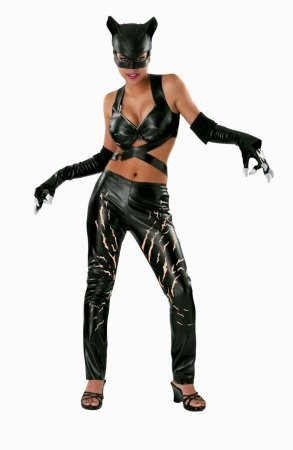 Deluxe Catwoman Costume - Large - Dress Size 12-14 (Deluxe Adult Catwoman Costume)