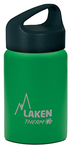 Laken Thermo Classic Vacuum Insulated Stainless Steel Wide Mouth Water Bottle with Screw Cap, 12 Oz, Green Birthday Sigg Water Bottle