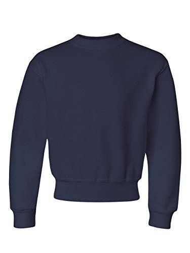 Jerzees Youth NuBlend® Crew Neck Sweatshirt - J Navy - M