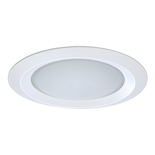 Inch White Trims 5 (Halo 5150WH E26 Series Recessed Lighting Self Flanged Shower Trim with Frosted Glass Lens, 5