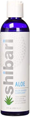 Shibari Thank Me Now Shibari Aloe, Natural Aloe-Vera Based Personal Lubricant, Glycerin & Paraben-Free Lub