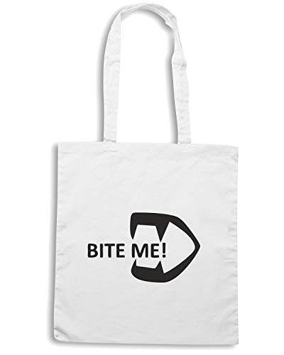 Speed Shirt Borsa Shopper Bianca TDM00034 BITE ME