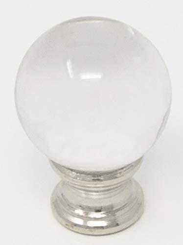 Urbanest Crystal Ball Lamp Finial, 1-5/8-inch Tall