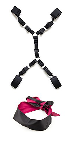 premium-quick-and-easy-medical-grade-velcro-nylon-velcro-bed-restraint-system-with-ankle-cuffs-satin
