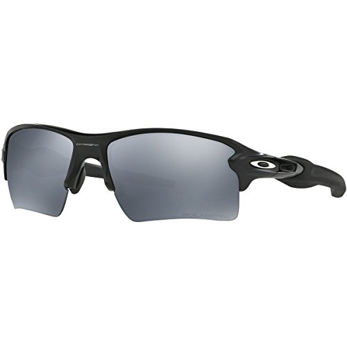 Oakley Men's Flak 2.0 Xl OO9188 Polarized Iridium Sunglasses, Matte Black w/Black Iridium Polarized, 59 - Sunglasses Oakley