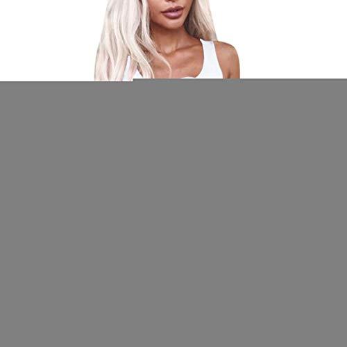 JESPER Women's Summer Casual Cute Slim Wrap Bodice Vext Dress Club Beach Single-Breasted Dress White ()