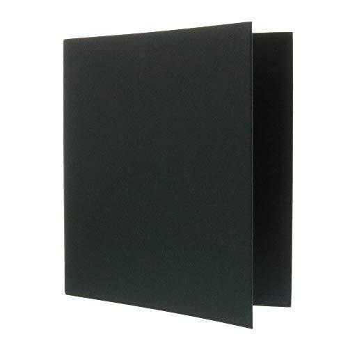 JAM PAPER Premium Linen Textured 1 inch Binders - Black 3 Ring Binder - Sold Individually