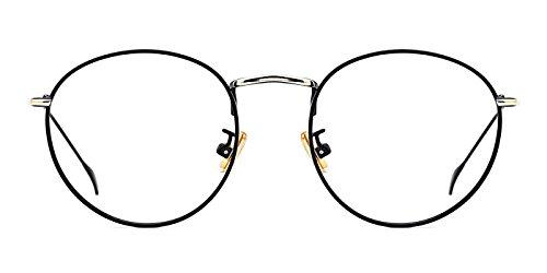 TIJN Women Full Rim Round Metal Circle Eyeglasses Thin Frame (D, - Frames Discount For Eyeglass Women