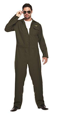 Disfraz de aviador para hombre, extra grande, mono de los años 80 ...