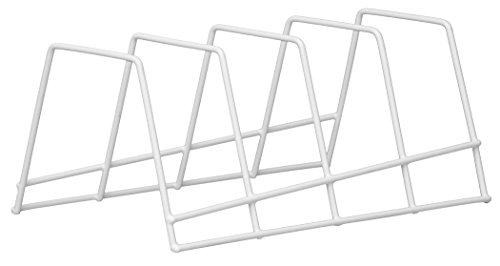 Panacea Grayline 40213 Plate Rack, White (Metal Plate Rack)
