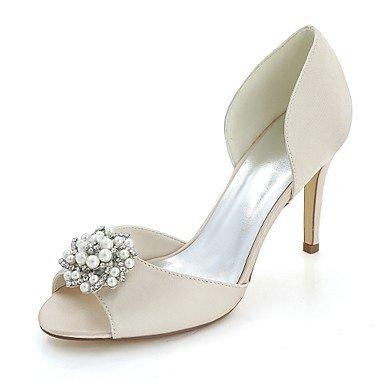 e09360a9c0b5 Hochzeit Satin für Champagner Party Abend Wuyulunbi Pumpe Damenschuhe Peep  Hochzeit Schuhe Sommer Stiletto Basic Strass