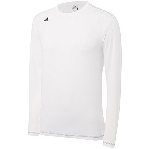adidas Golf Men's Climawarm Long Sleeve Base Layer Shirt, White/Black, X-Large