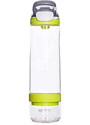 Contigo Cortland Infuser Autoseal Water Bottle, Large BPA Free Drinking Bottle with Fruit Infuser, Leakproof Gym Water Bottle, Ideal for Sports, Vibrant Lime, 770 ml