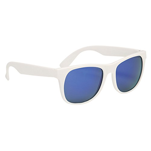 Multi-Colored Rubberized Mirrored Malibu Sunglasses by iPromo - 100 Quantity - $1.79 each - (Promotional Product/Custom Branded with your specific Logo) (Bulk Custom Sunglasses)