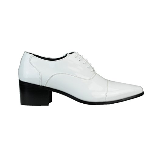 Mm / One Heren Veterschoenen Oxford Derby Schoenen Intorechato Collectie Mpt111-1 Wit