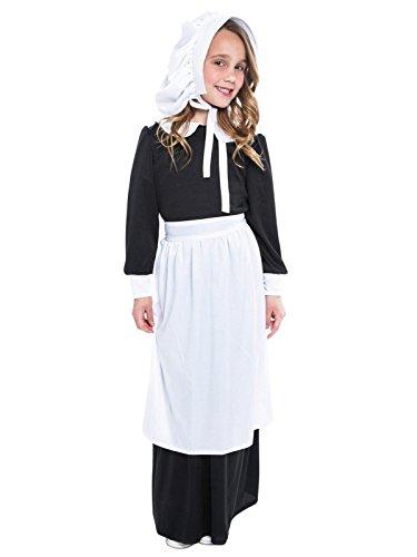 Boy Pilgrim Costumes (Pilgrim Girl Child Costume - Medium)