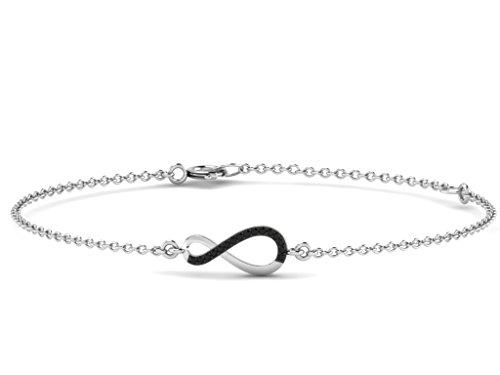 Or Blanc 18 ct Bracelet Diamant en forme de Alpha, 0.14 Ct Diamant, GH-SI, 0.87 grammes.
