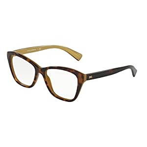 Dolce&Gabbana DG3249 Eyeglass Frames 2956-51 - Top Havana On Gold DG3249-2956-51