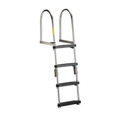 AMRG12380 * Garelick Premium Folding Pontoon Transom Boarding Ladder - Garelick Premium Seat