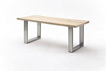 Tisch, Esstisch, Esszimmertisch, Gestell Edelstahl, Eiche Furniert, Lu003d240 Cm