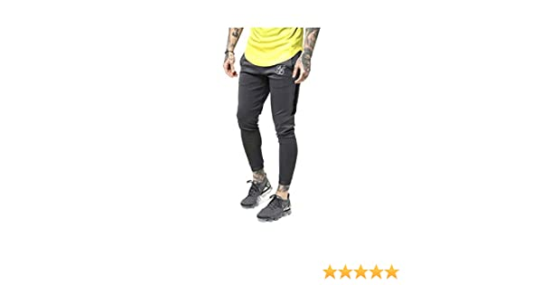 Sik Silk Pantalon Chandal Hombre Skinny Fit Ajustado (S): Amazon ...