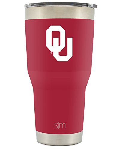 Simple Modern University Of Oklahoma Vacuum Insulated Tumbler   Double Walled 18 8 Stainless Steel Travel Mug   Ou Sooners Licensed College Tailgating Flask   Coffee Cup   Champion Collection   30Oz
