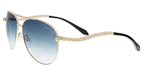 Roberto Cavalli Women's RC899S Sunglasses GOLD - Sunglasses Cavalli Aviator Roberto