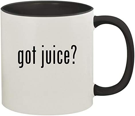 got juice? - 11oz Ceramic Colored Inside & Handle Coffee Mug, Black