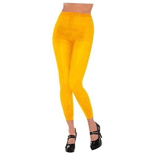 - Amscan Footless Tights - Adult, Party Accessory, Yellow