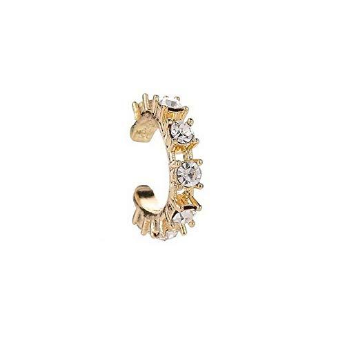 - Dokis 2pcs Fashion Silver Ear Cuff Wrap Rhinestone Cartilage Clip Earring Non Piercing   Model ERRNGS - 16408  