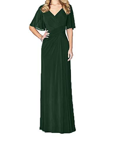 Jungendweihe Festlichkleider Dunkel Damen V Brautmutterkleider Abendkleider Lang Charmant Gruen Kleider Ausschnitt Elegant UnqZ0qHB