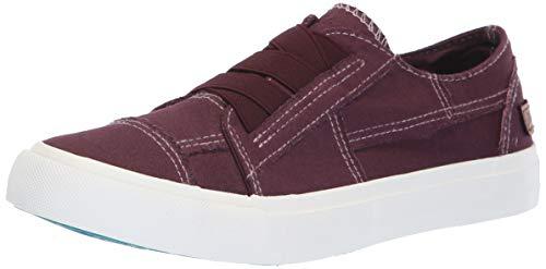Cola Footwear (Blowfish Women's Marley Sneaker, deep Plum col or Washed Canvas, 6.5 Medium US)