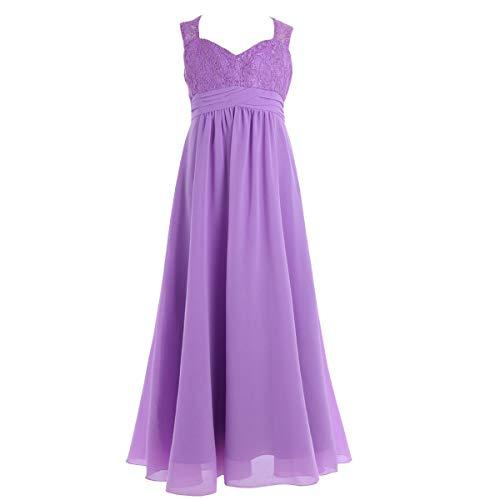 Lavender Home Senza Fiore D'onore Con 3 Spalline Size Vestito YIbf76gyv
