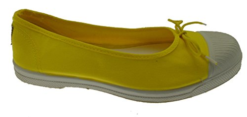 Natural World 128 504 Ballerina Canvas Cotton eco Yellow Amarillo Vegan 41 pgMr4Y6f0