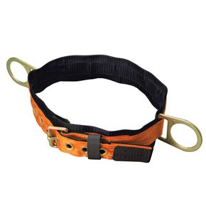 Miller Titan by Honeywell T3320/XLAF Tongue Buckle Body Belt with Side D-Rings and 3-Inch Back Pad, X-Large