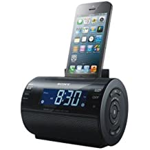 Sony ICFC11IP Lightning iPhone/iPod Clock Radio Speaker Dock (Black) (Discontinued by Manufacturer)