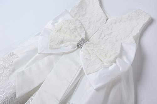 LZH Vestito da Ragazza per Bambina Abito da Battesimo da Principessa per Matrimoni Sposa Compleanno 4
