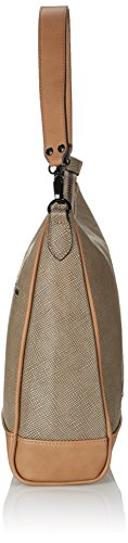Sansibar Sirkos - Bolso de hombro de material sintético mujer beige - Beige (Taupe)