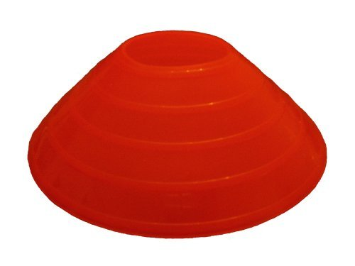 Set of 20 Disc Cones Bright Orange
