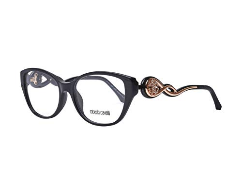 (Roberto Cavalli RC5029 Eyeglass Frames - Shiny Black Frame, 54 mm Lens Diameter RC502954001)