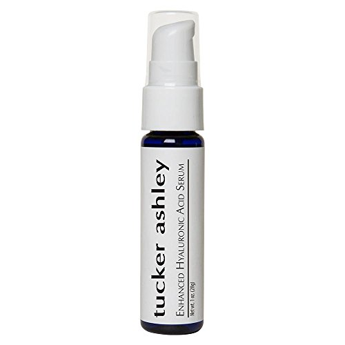 tucker ashley Enhanced Hyaluronic Acid Serum, Smooths Lines and Wrinkles, Deep Hydration, Maintains Collagen, Reduces Blemishes, Good for Aging or Older Skin, ()
