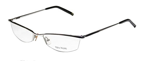 Vera Wang V106 Womens/Ladies Designer Half-rim Eyeglasses/Eyewear (50-18-135, Chrome / - Eyewear Mount Rimless