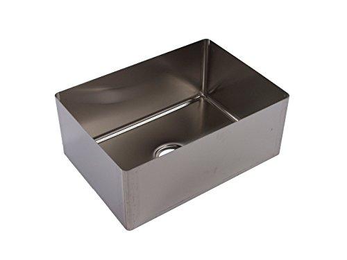 Tarrison SB2024146 Heavy Duty 16 Gauge Stainless Steel OEM Coved Centre Drain Sink Bowl, 24